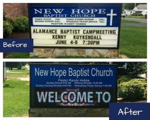 New Hope's Digital Sign