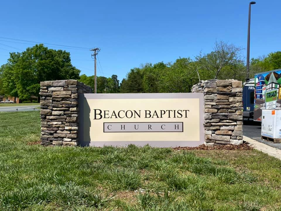 Beacon Baptist Monument Sign