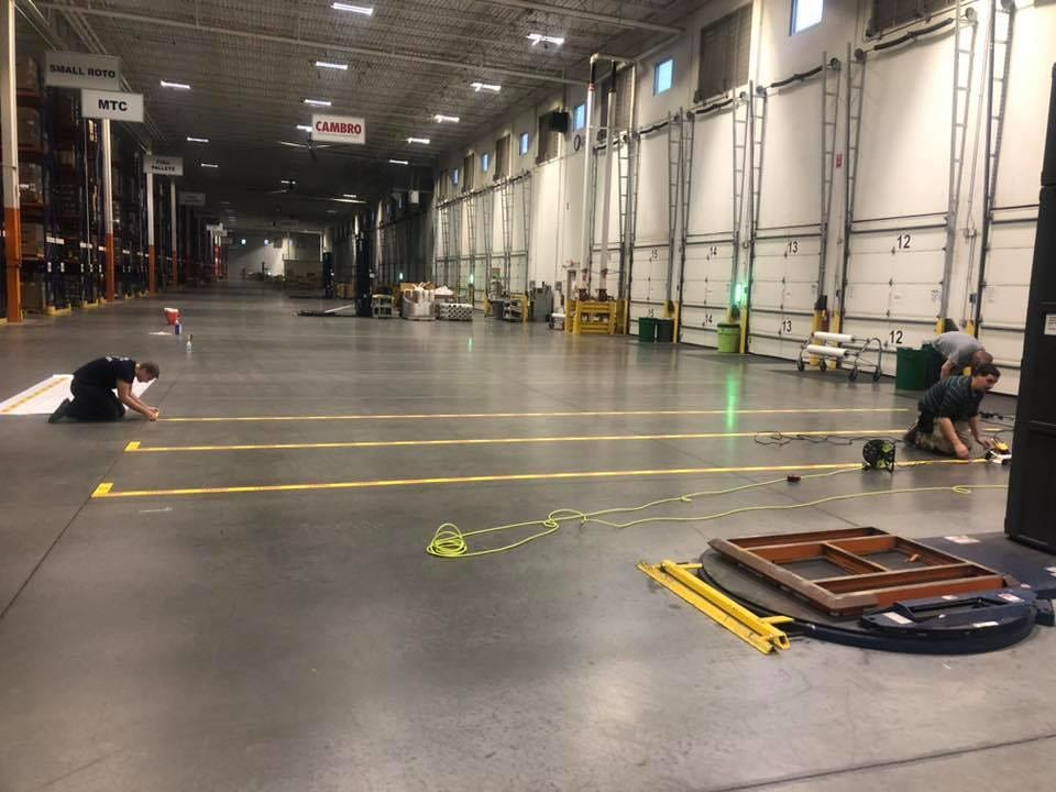 Safety Stripes in Loading Dock