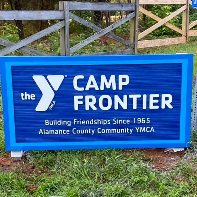 Camp Frontier Monument Sign
